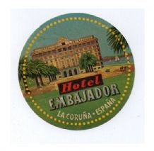 Collectable Hotel luggage label Spain nice colors#373